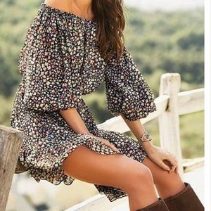 Moda International Floral Off the Shoulder Dress